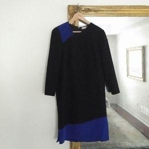 CAROLINA HERRERA - asymetric panel dress